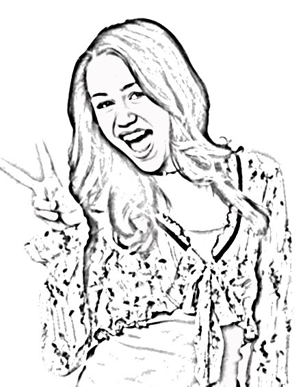miley cyrus coloring pages printable - photo#22